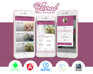 Floral-ionic app theme