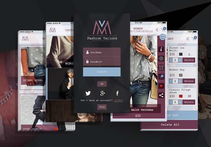 M Fashion ionic app theme