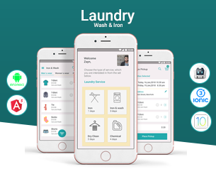 Laundry-Ionic 3 theme for laundry services ionic app theme