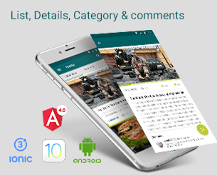 List Detail Comment  ionic app theme