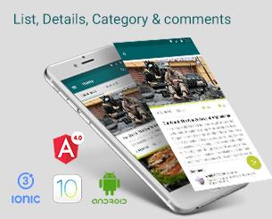 List Detail Comment  ionic app theme