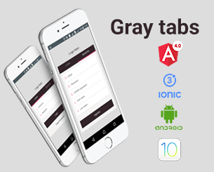 Gray tabs login ionic app theme