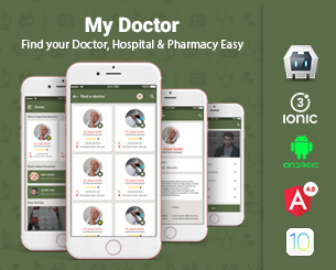 My Doctors ionic app theme
