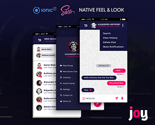 Joy-ionic app theme