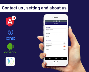 settings& contact&about us ionic app theme