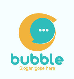 Bubble chat Logo ionic app theme