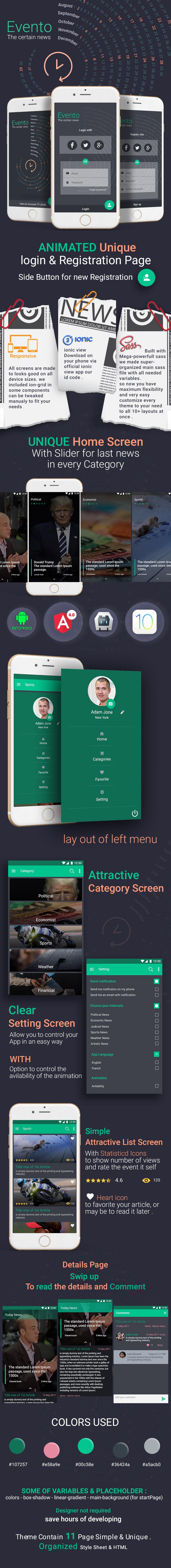 Evento-ionic app theme