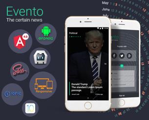 Evento ionic app theme