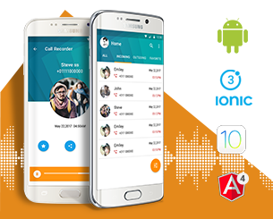 AutoCall Recorder-ionic app theme
