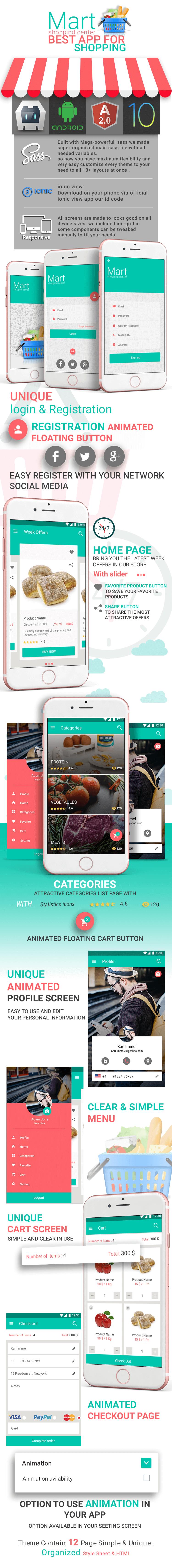 Hyber-ionic app theme