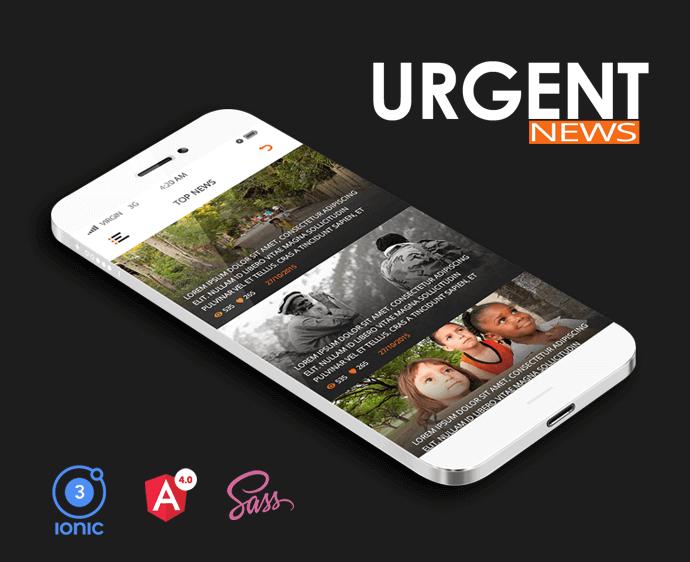 Urgent ionic app theme