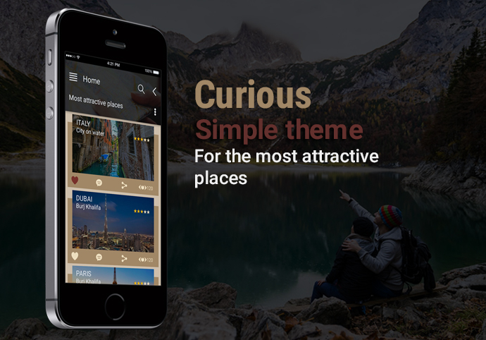 Curious ionic app theme