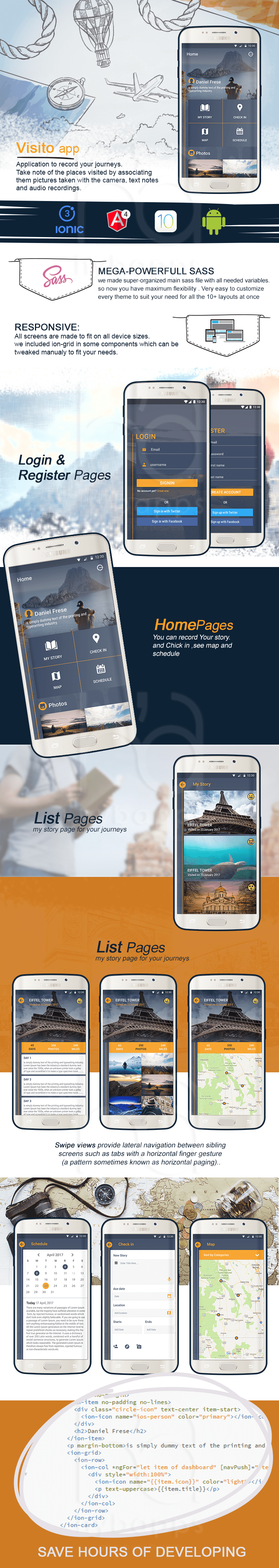 Visitoapp  -travel app template-ionic app theme