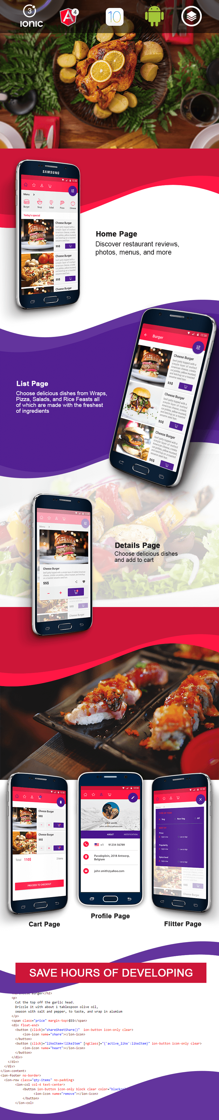 Le Chef - for Online Food Ordering-ionic app theme