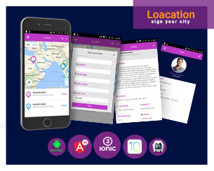 Location ionic 3 ionic app theme