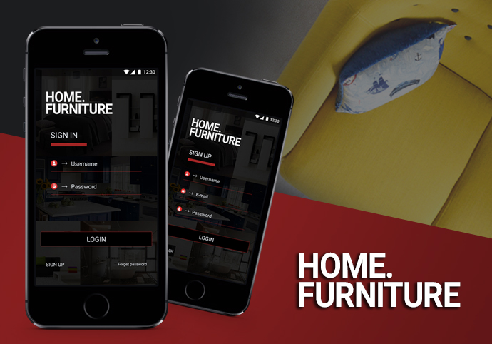 Home Furniture ionic app theme