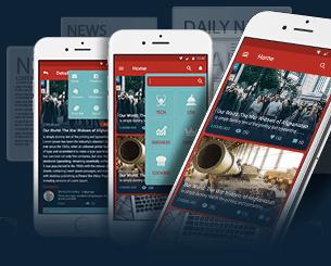 INF News ionic app theme