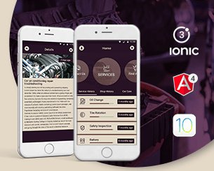 Auto Fast-ionic app theme