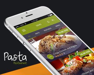 Pasta ionic app theme