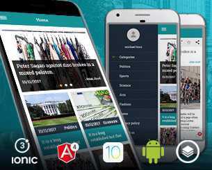 Latest News ionic app theme