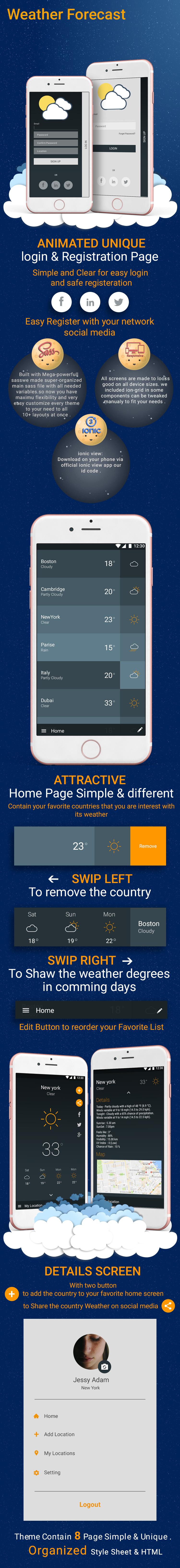 Weather-ionic app theme