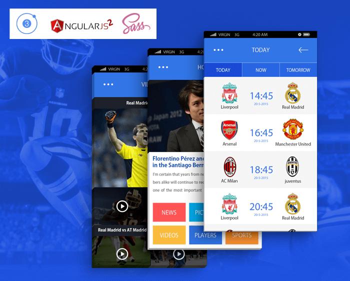 Sports App ionic app theme