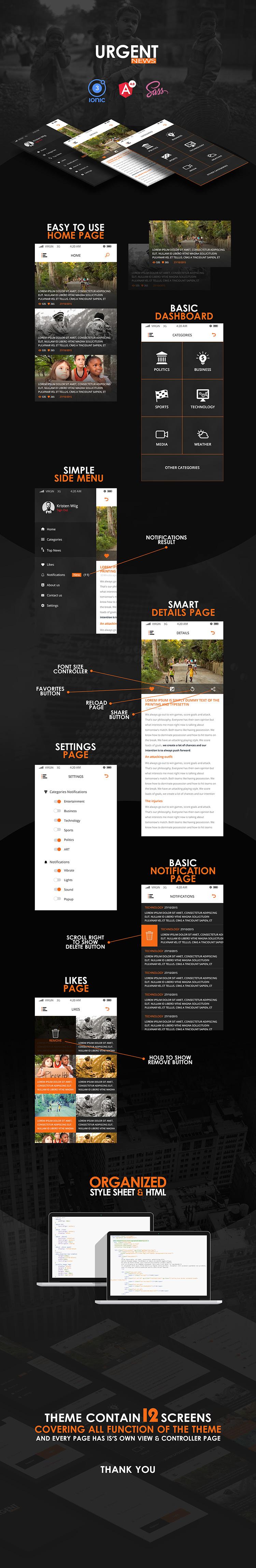 Urgent-ionic app theme