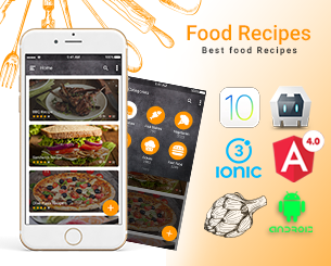 food Recipes ionic app theme