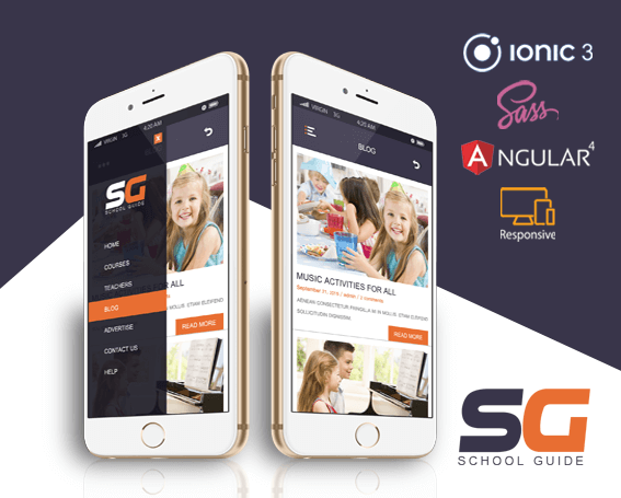 School Guide ionic app theme