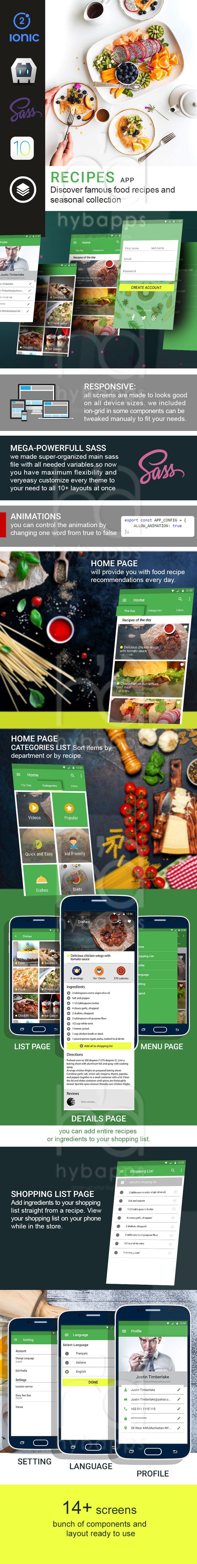 Recipes-ionic app theme