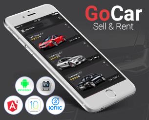 Go Cars ionic app theme