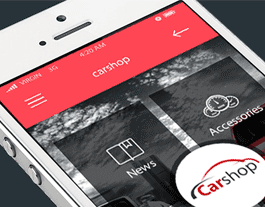 Car shop ionic app theme