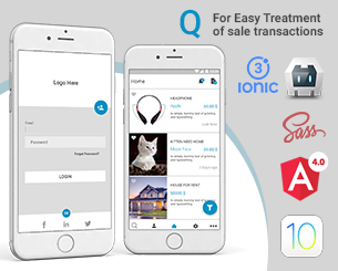 Q -Ads ionic app theme