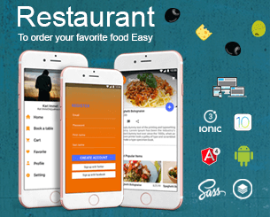 New Restaurant ionic app theme