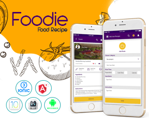 Foodie ionic app theme