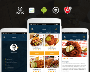 Fun Food - Online Food Ordering  ionic 4 Theme for online ordering food bases on  Angular 8 , css with many features and screens