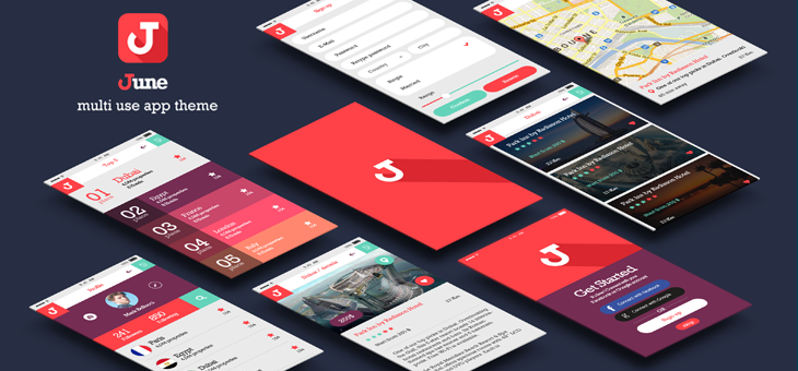 June-ionic app theme