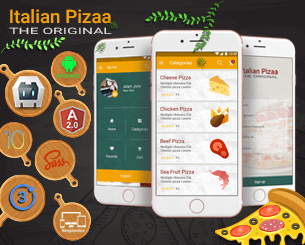 Italian Pizza ionic app theme