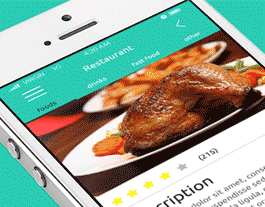 Restaurant ionic app theme
