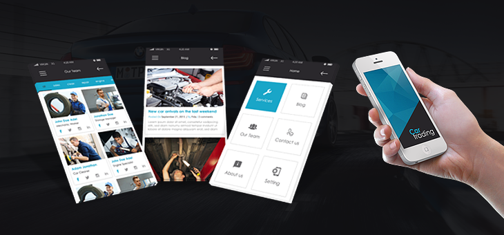 Car trading-ionic app theme