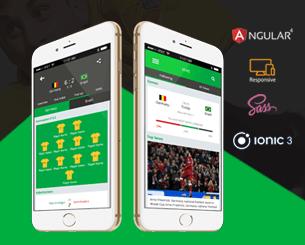Hi, World Cup ionic app theme