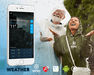 Weather - Ionic Template ionic app theme