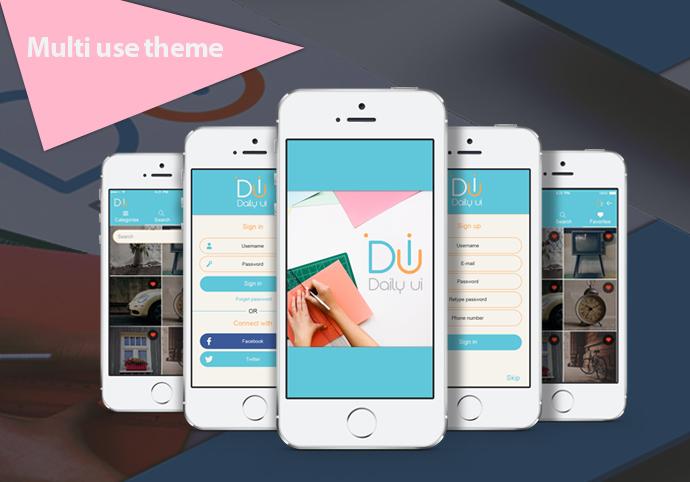 Daily UI ionic app theme