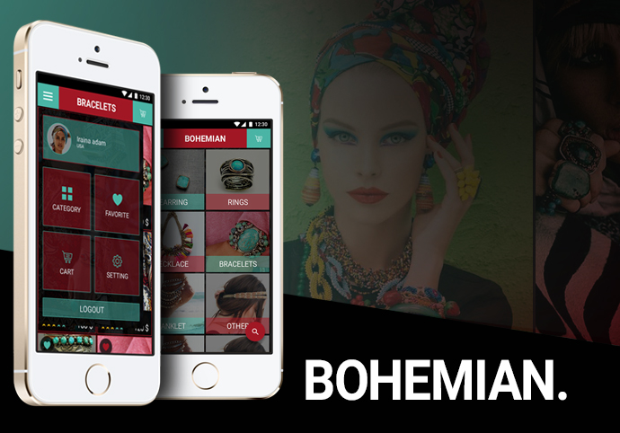 Bohemian ionic app theme
