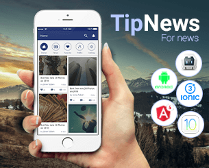 Tip News ionic 3 theme for news or Articles using ionic 3 , Angular 5 , Typescript , Cordova