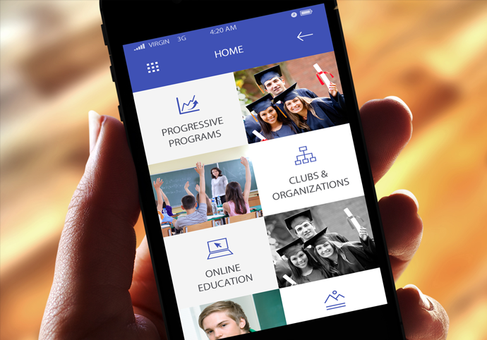 Education Management ionic app theme