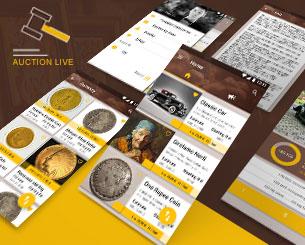 Auction Live ionic app theme